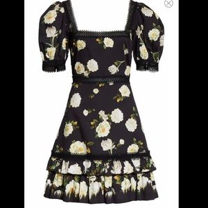 "Alice and Olivia ""Wylie Floral Mini Dress"""